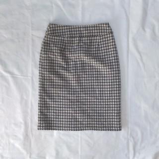 ハニーズ(HONEYS)のウール混 千鳥格子柄タイトスカート M(ひざ丈スカート)