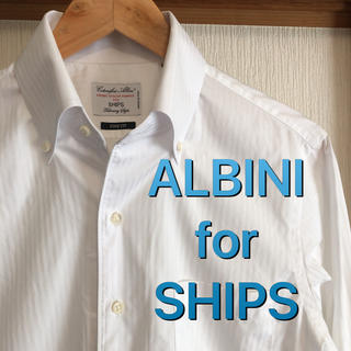 SHIPS - 【極美品】ALBINI for SHIPS ソリッド ボタンダウン シャツ