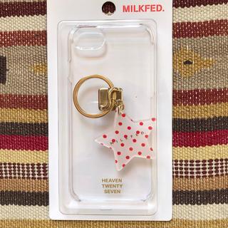 ミルクフェド(MILKFED.)の新品 MILKFED.ミルクフェド スマホカバー リング付き iphone8(iPhoneケース)