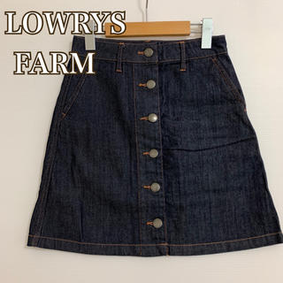 LOWRYS FARM - ローリーズファーム デニムスカート   センターボタン