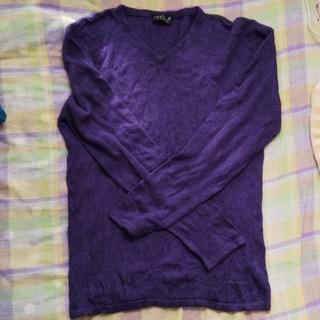 アニエスベー(agnes b.)のagnes b.紫 セーター*プロフ参照*(ニット/セーター)