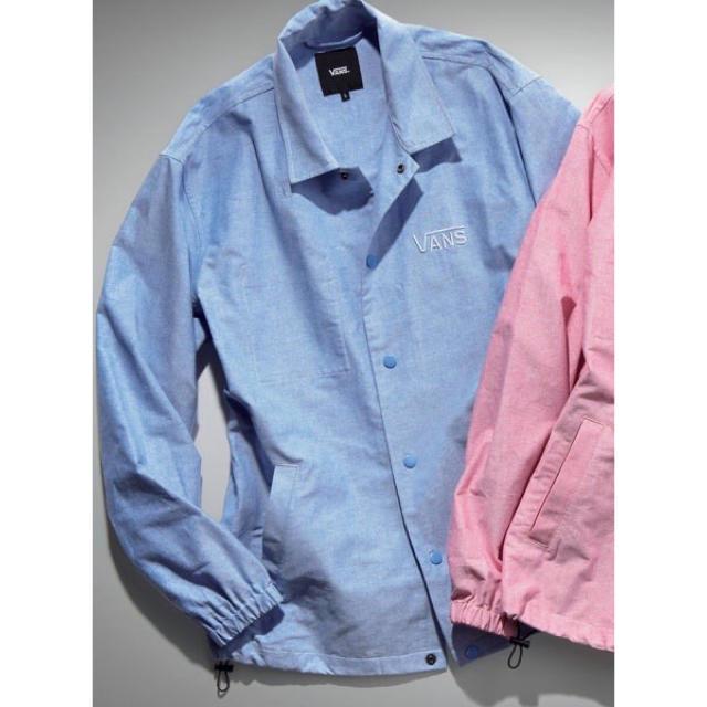 VANS(ヴァンズ)の新品 VANS コーチジャケット パステル ブルー S ジャケット アウター メンズのジャケット/アウター(その他)の商品写真