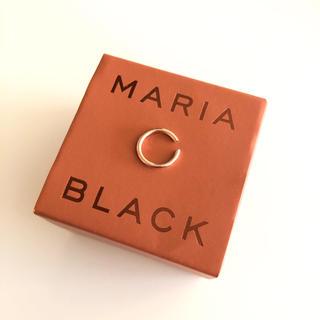 エストネーション(ESTNATION)のMARIA BLACK TWIN MIDI EAR CUFF ローズゴールド(イヤーカフ)