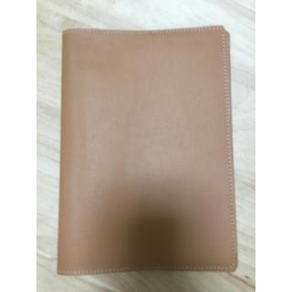 職人手作り〈牛本革〉A5サイズ ノートカバー (オレンジブラウン)(ブックカバー)