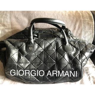 ジョルジオアルマーニ(Giorgio Armani)のGIORGIO ARMANI パッチワークレザーボストンバック(ボストンバッグ)