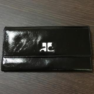 クレージュ(Courreges)のクレージュ  長財布  エナメル素材  美品(財布)