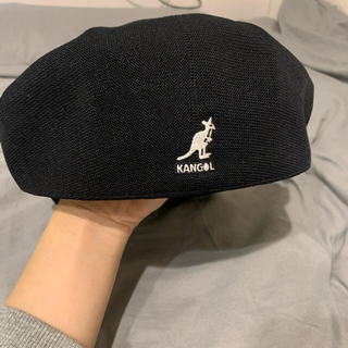 KANGOL - 黒 ベレー帽