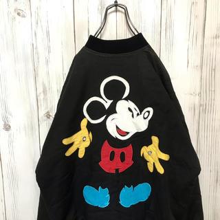 ディズニー(Disney)の【超激レア】ヴィンテージ Disney ミッキー ドデカ刺繍入り ブルゾン(ブルゾン)
