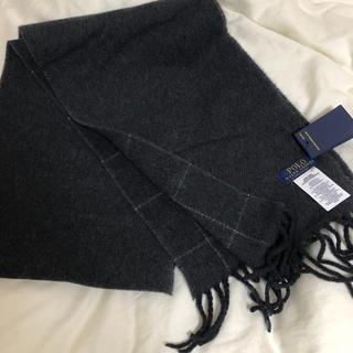 ポロラルフローレン(POLO RALPH LAUREN)の新品タグ付き リバーシブル ウィンドーペーン スカーフ(マフラー)
