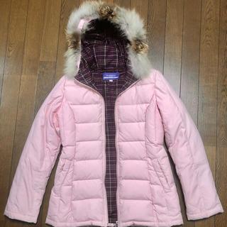 バーバリーブルーレーベル ダウンジャケットコート 希少ピンク M サイズ38