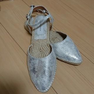 アダムエロぺ(Adam et Rope')のシルバーペタんこ靴👠(ハイヒール/パンプス)
