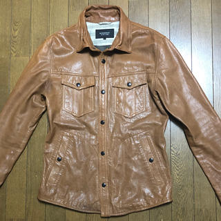 バーバリーブラックレーベル(BURBERRY BLACK LABEL)のバーバリーブラックレーベル 本革ジャケット L メンズ 羊革 革ジャン(レザージャケット)