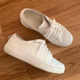 シャネル(CHANEL)のCHANEL 35 シャネル スニーカー 靴 ホワイト(スニーカー)