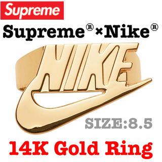 シュプリーム(Supreme)の完売‼️Supreme×Nike  14K Gold Ring 新品 送料込み(リング(指輪))