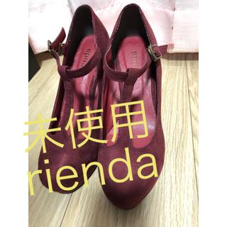 リエンダ(rienda)の未使用 rienda リエンダ スヌードパンプス 赤 M(ハイヒール/パンプス)