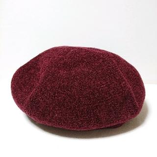 ニコアンド(niko and...)の『新品未使用』 niko and… モール カラーベレー ボルドー(ハンチング/ベレー帽)