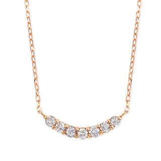 JEWELRY TSUTSUMI - ツツミ ダイヤモンドネックレス k10ピンクゴールド