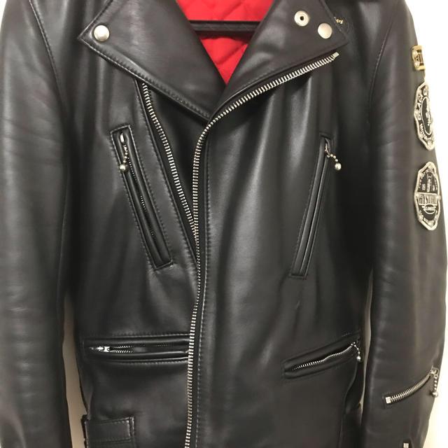 Lewis Leathers(ルイスレザー)の ルイスレザー×ヒステリックグラマー ライダース メンズのジャケット/アウター(ライダースジャケット)の商品写真