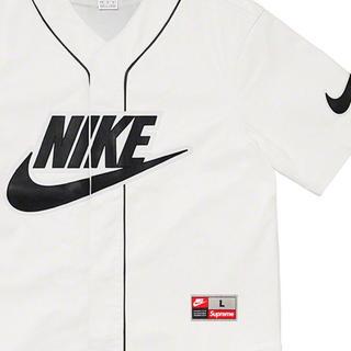 シュプリーム(Supreme)の(L最安値)supreme  nikeコラボ2019fw baseballシャツ(シャツ)