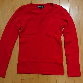 アニエスベー(agnes b.)のアニエスベー Vネックセーター T1サイズ・赤(ニット/セーター)