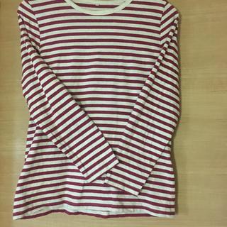 ボーダー◎赤レッド◎Tシャツ L(Tシャツ(長袖/七分))