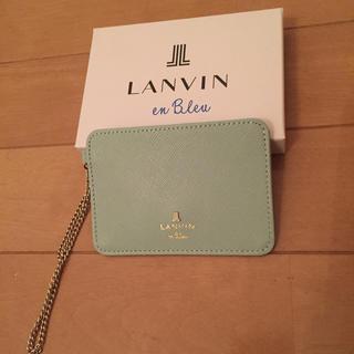 ランバンオンブルー(LANVIN en Bleu)のランバンオンブルー新品未使用パスケース(名刺入れ/定期入れ)