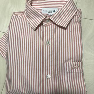 ラコステ(LACOSTE)のラコステ LACOSTE メンズ シャツ ボーダー ピンク 長袖 ストライプ(シャツ)