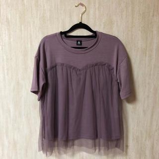merlot - フリルTシャツ