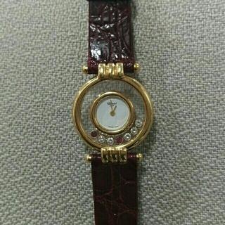 ショパール(Chopard)のニャッキー様専用❗ ショパール ハッピーダイヤ クォーツ時計 稼働品(腕時計)