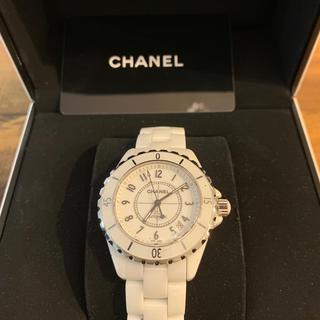 CHANEL - CHANEL J12 メンズホワイト 時計 シャネル