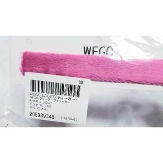 ウィゴー(WEGO)のWEGO ピンクのファー 太チョーカー パーティー(ネックレス)