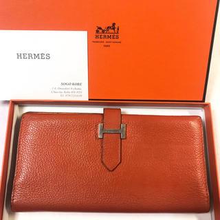 エルメス(Hermes)の正規品☆エルメス ベアン オレンジ 長財布 男女兼用(長財布)