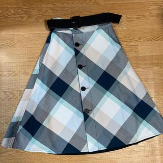 バーバリーブルーレーベル(BURBERRY BLUE LABEL)のブルーレーベルクレストブリッジ ロングリバーシブルスカート(ロングスカート)