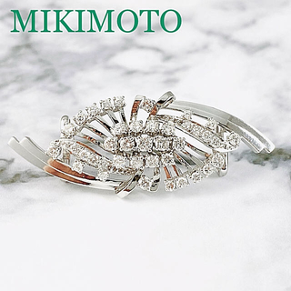 ミキモト(MIKIMOTO)の【MIKIMOTO】 K14WG ダイヤ 帯留め (D約1.00ct)(その他)