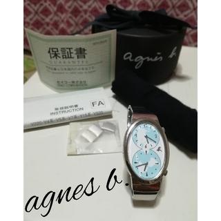 アニエスベー(agnes b.)のアニエスベー ダブルフェイス腕時計 電池切れ ブレス調整交換可能 日本製(腕時計)