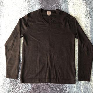 カルバンクライン(Calvin Klein)のカルバンクライン Vネックニット ブラック(ニット/セーター)