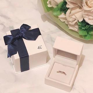 ヨンドシー(4℃)の4℃ ピンクシルバーメレダイヤリング 定価25,920円(リング(指輪))