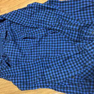 UNIQLO - 【Lサイズ】ユニクロ ネルシャツ ブルー