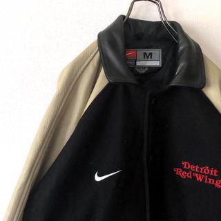 ナイキ(NIKE)の激レア 90s ナイキ レッドウィング 刺繍 レザージャケット ビッグサイズ(レザージャケット)