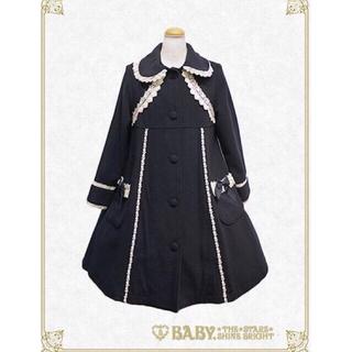 ベイビーザスターズシャインブライト(BABY,THE STARS SHINE BRIGHT)の新品タグ付き ベイビー 小公女コート 紺 コート 生成り バッスル(ロングコート)