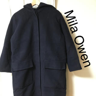 ミラオーウェン(Mila Owen)のMila Owen ウール フーデッドコート(ロングコート)