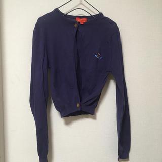 ヴィヴィアンウエストウッド(Vivienne Westwood)の値下げ◯viviennewestwoodヴィヴィアン カーデ 紫 二つボタン(カーディガン)