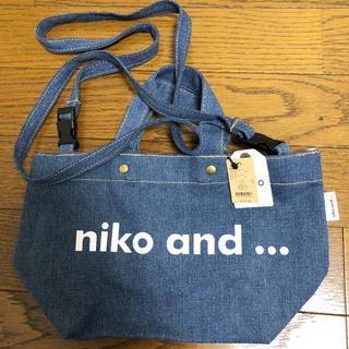 ニコアンド(niko and...)のニコロゴトートバッグ ミニ(トートバッグ)