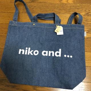 ニコアンド(niko and...)のニコロゴトートバッグ A4(トートバッグ)