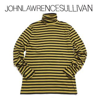 ジョンローレンスサリバン(JOHN LAWRENCE SULLIVAN)の19AW STRIPED COTTON TURTLE NECK TOP(ニット/セーター)