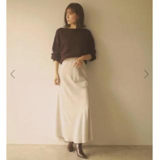 Noble - 【新品/タグ付き】CACHEC サテンスカート マーメイドラインスカート