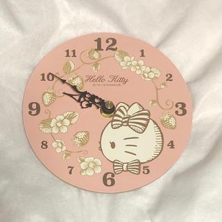 ハローキティ(ハローキティ)のキティ 木製掛時計(掛時計/柱時計)