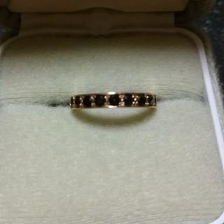 アルページュK18PGブラックダイヤモンド(リング(指輪))