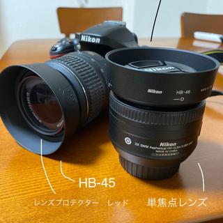 ニコン(Nikon)のNikon D5200  ☆標準レンズと単焦点レンズのセット☆備品おまけ付き(デジタル一眼)