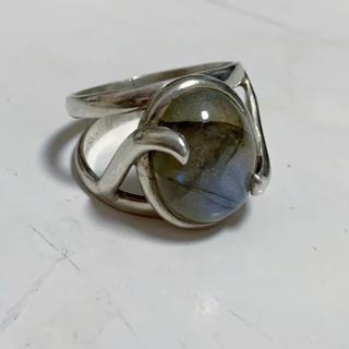 vintage 天然石 シルバーリング 925(リング(指輪))